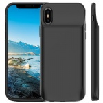 iPhone XS/X Battery Case, Vproof 6000mAh Portable Charger Rechargeable Charging Case External Battery Protective Cover for Apple iPhone X, iPhone XS (5.8 Inch) (Black)