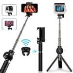 Selfie Stick Tripod, VPROOF Extendable Bluetooth Selfie Stick Tripod with Detachable Wireless Remote, Compact Monopod for iPhone X/8 Plus/7 Plus/6S Plus, Galaxy Note 9/S9 Plus/Note 8, GoPro Cameras
