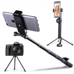 Vproof Selfie Stick Bluetooth, Selfie Stick Tripod with Detachable Remote, Extendable Monopod Stand for iPhone XS Max/XR/X/8 Plus/7/6S, GoPro/Action Cameras